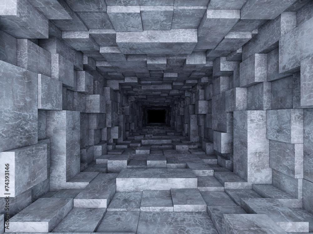 Fototapety, obrazy: Tunel, fototapeta przestrzenna