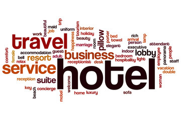 Obraz na SzkleHotel word cloud