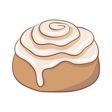 Freshly Baked Cinnamon Roll Wi...