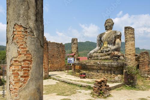 Printed kitchen splashbacks Place of worship Wat Piyawat temple, Xiangkhouang province, Laos.