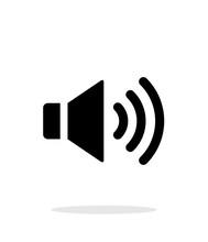 Volume Max. Speaker Icon On Wh...
