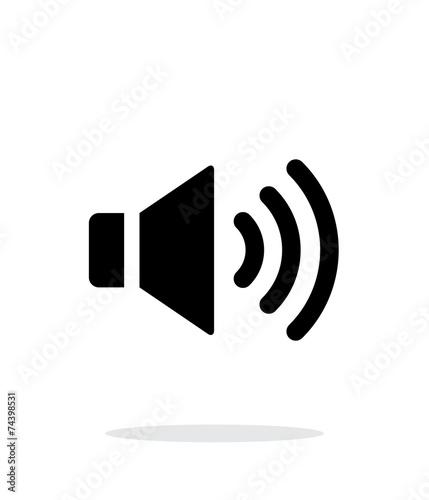 Fotografía  Volume max. Speaker icon on white background.