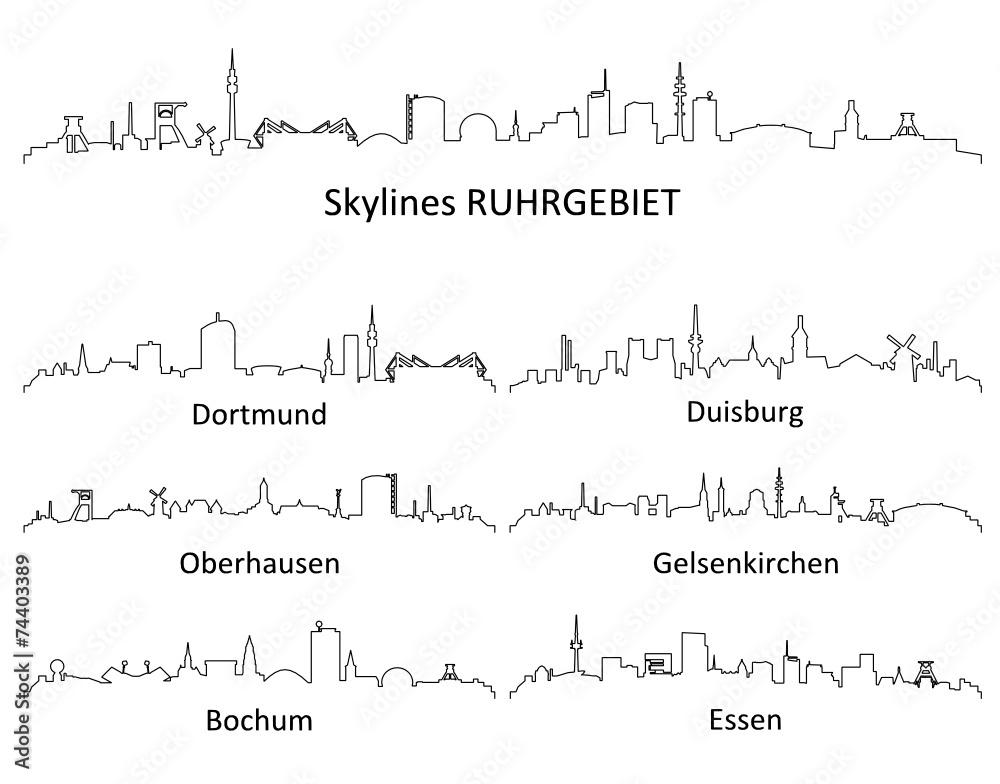 Fototapeten Skyline Ruhrgebiet Nikkel Artde