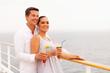 couple enjoying cruise vacation