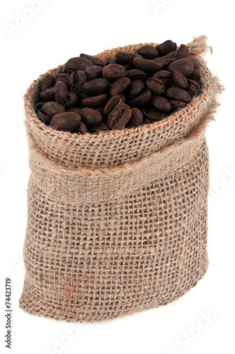 Canvas Prints Coffee beans Sac en toile de café en grains