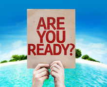 Are You Ready? Card With A Bea...