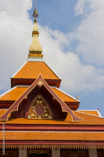Deurstickers Temple design of asian temple roof