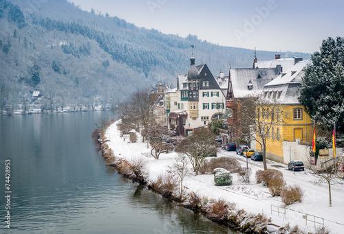 Photo Stands Ship Traben-Trarbach village
