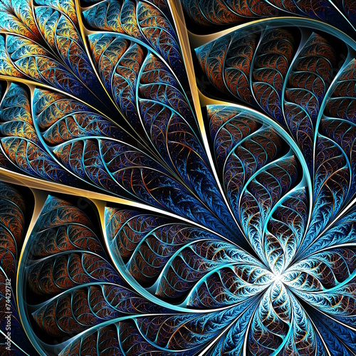 Obraz abstract fractal theme - fototapety do salonu