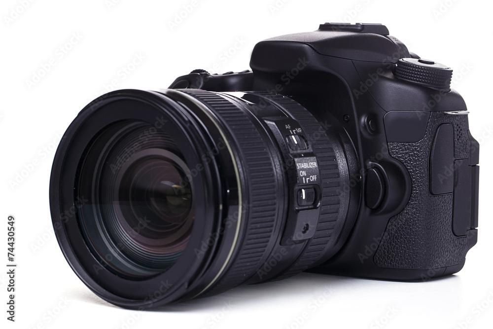 Fototapety, obrazy: DSLR camera on white background