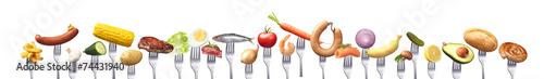 Poster Légumes frais Gruppe von Lebensmitteln