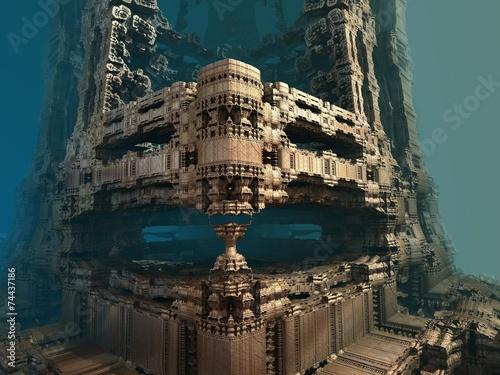 Fotografie, Obraz  Computer rendered virtual scenery