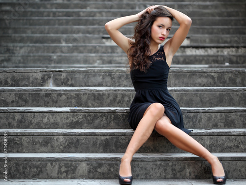 Ritratto di ragazza. Outdoor