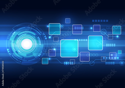 Fotografering  Abstract technology background design vector