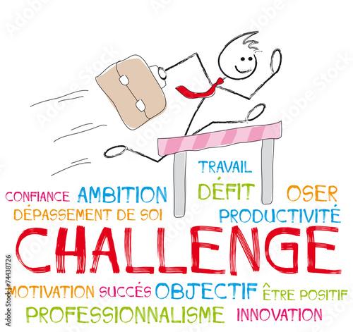 Fotografie, Obraz  nuage de mots challenge