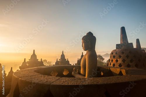 Foto op Aluminium Indonesië Borobudur Temple