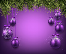 Background With Purple Christm...