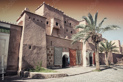 Canvas Prints Morocco Taourirt Kasbah in berber town Ouarzazate, Morocco