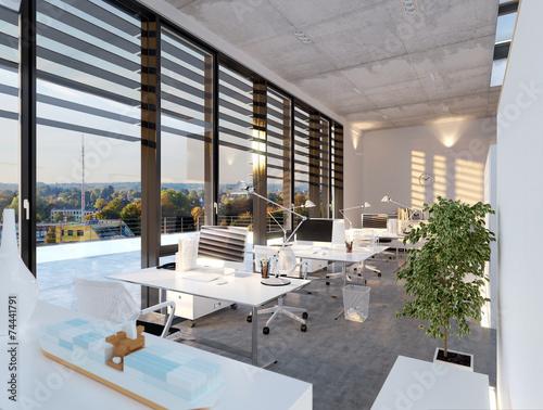 Modernes Buro Im Sonnenlicht Modern Loft Office Buy This Stock