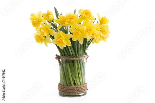Deurstickers Narcis Gefüllte Narzissen in einer Vase