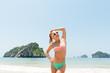 Fun girl at the beach