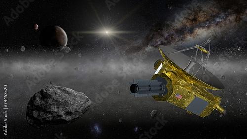 Photo  New Horizons space probe in the Kuiper belt
