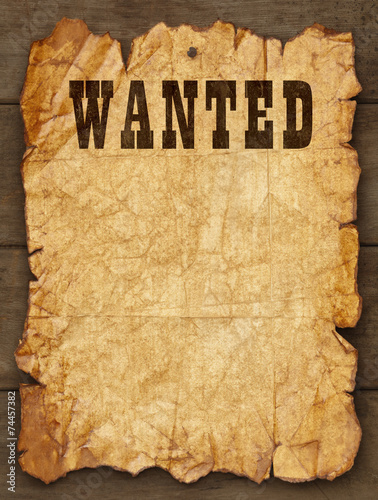 Old Wanted Posted Poster