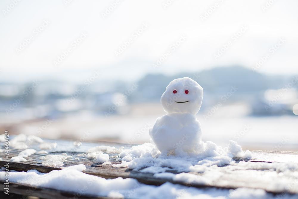 Fototapeta ちいさな雪だるま