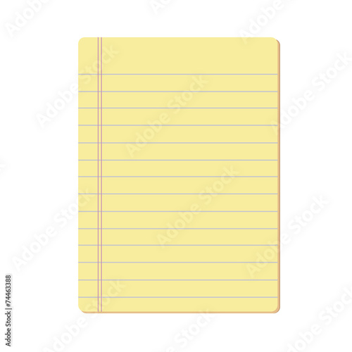 blank notepad vector Canvas Print