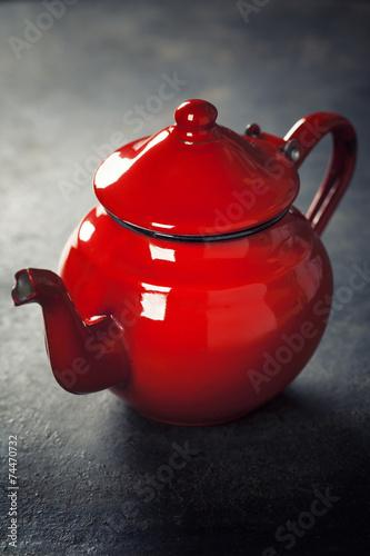Obraz w ramie Red Teapot