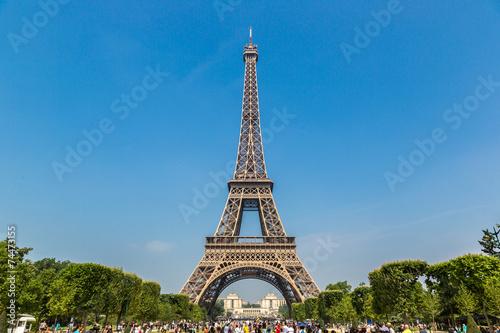Foto op Aluminium Eiffeltoren Eiffel tower in Paris