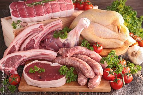 Staande foto Vlees raw meat