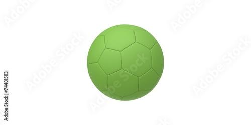 Valokuvatapetti green soccer ball isolated on white. football ball