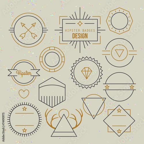 Hipster outline badges and emblems template for logo design Fototapeta