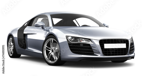 Staande foto Cartoon cars Sport car on white background