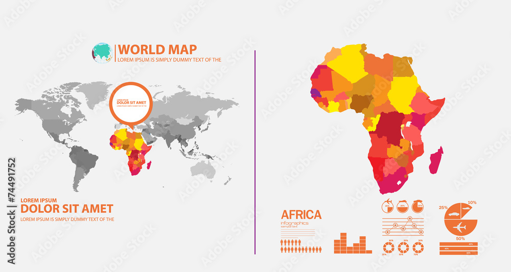 Fototapety, obrazy: map infographic