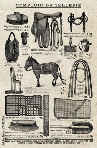 Poster Kranten Comptoir de Sellerie - 1901