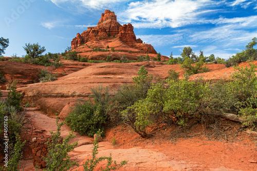 Foto op Aluminium Oranje eclat Bell Rock
