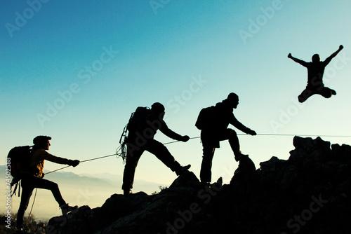 Fotografia  coşkulu dağcı