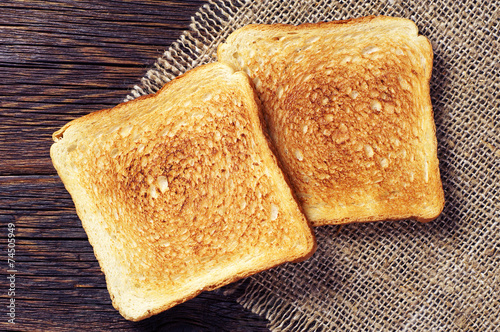 Photo Two toast bread