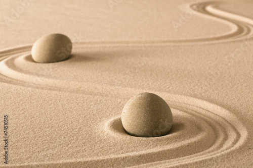 Photo  zen stones