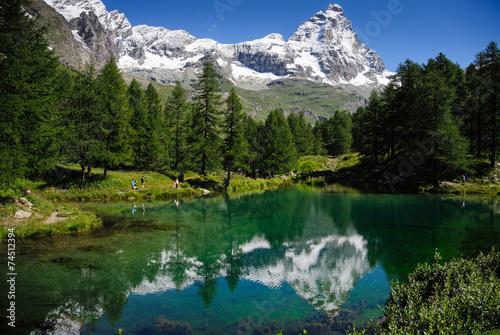 Fotografering  Il lago Blu