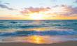 Sunrise over the ocean in Miami Beach, Florida