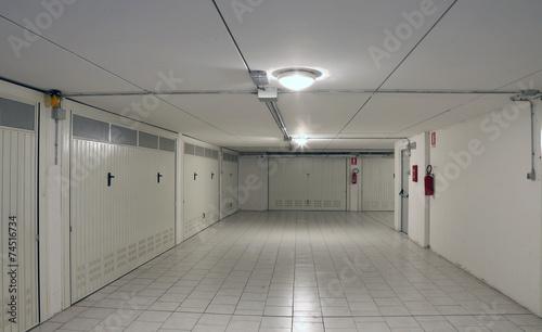 Obraz na płótnie Gates of underground garages to a large condominium