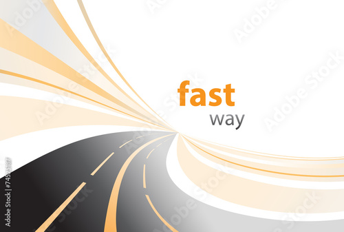 Photo highway background vector illustration