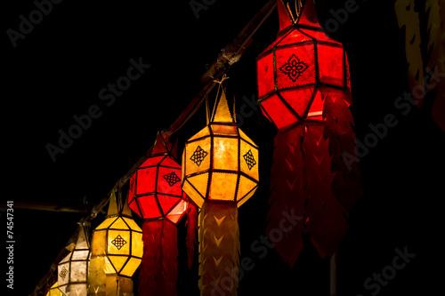 Fotografie, Obraz  Lamp of Yee Peng Festival