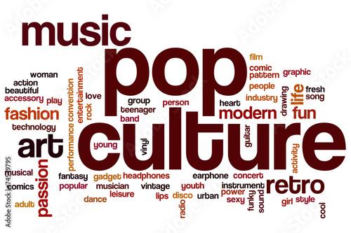 Fotografia  Pop culture word cloud