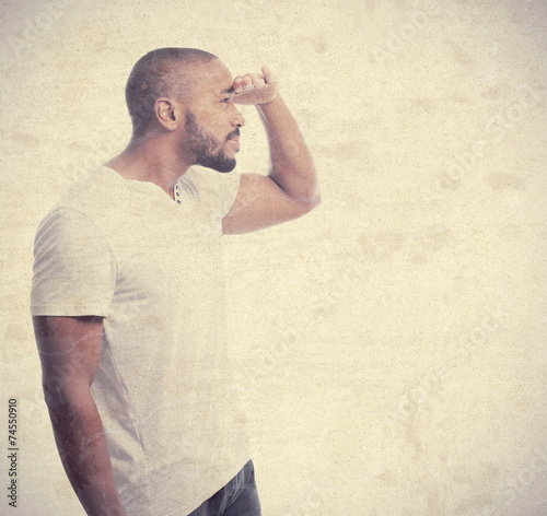 Fotografía  young cool black man looking for