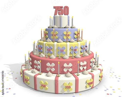 Photo Stands Bakery Taart met cijfer 750