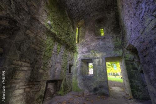 Foto op Aluminium Rudnes Room Ruins in Castle Walls